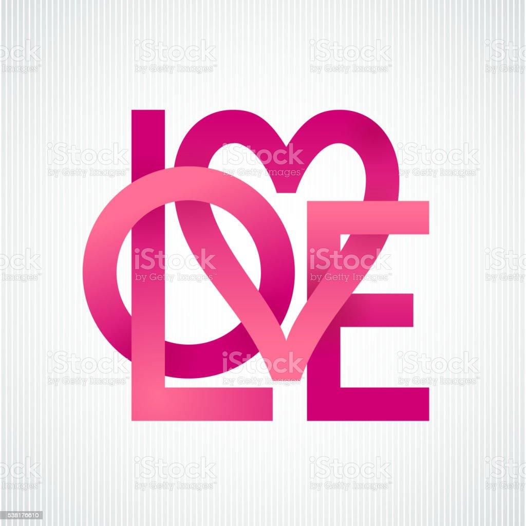 Love. Vector lettering vector art illustration