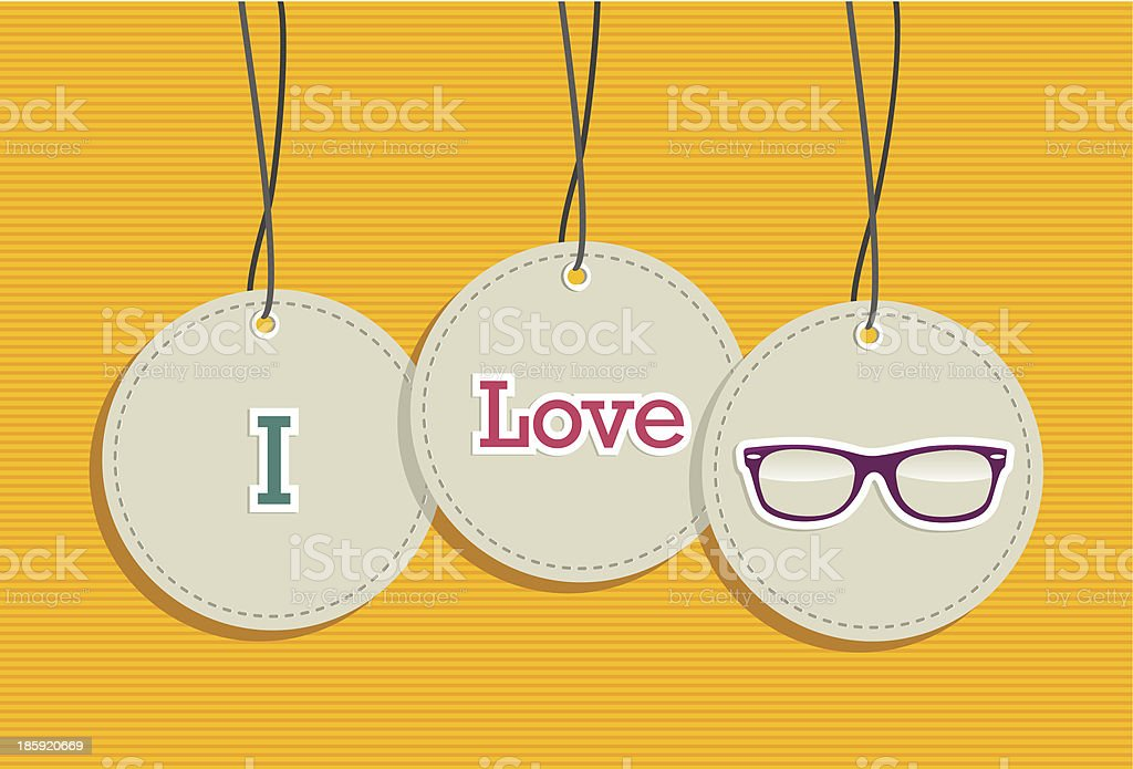 I love vintage fashion hipsters hang tags illustration set. royalty-free stock vector art