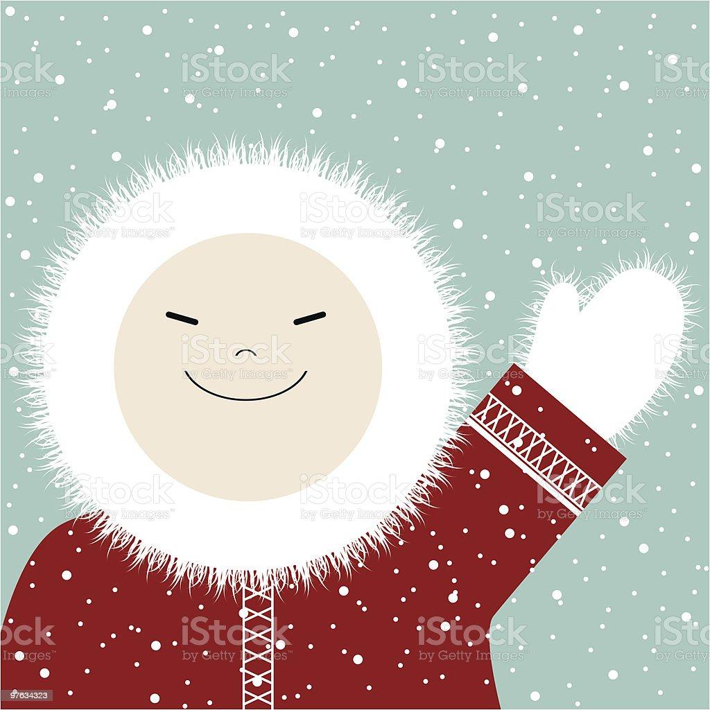 I love winter! vector art illustration