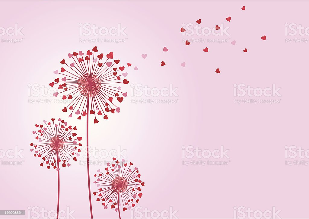 Love wishes vector art illustration