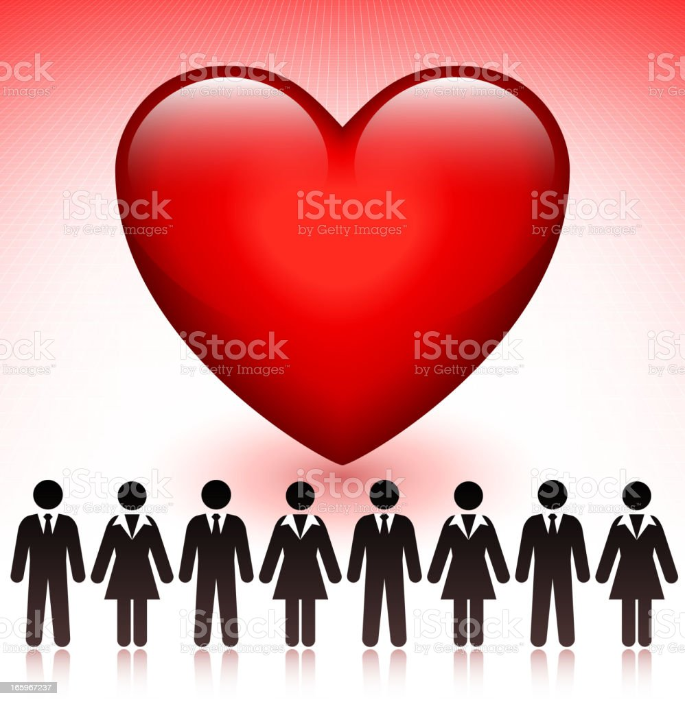Love with Stick Figures Concept royalty-free stock vector art