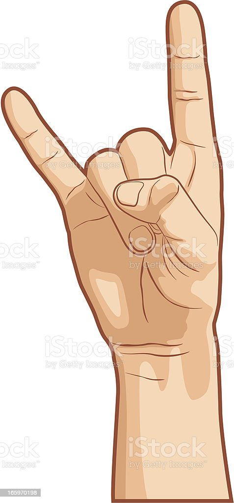 I Love You Hand Gesture vector art illustration