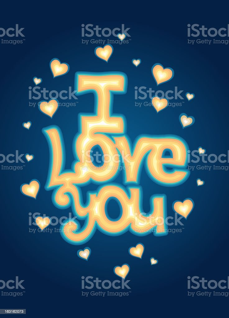 'I Love you' lettering royalty-free stock vector art