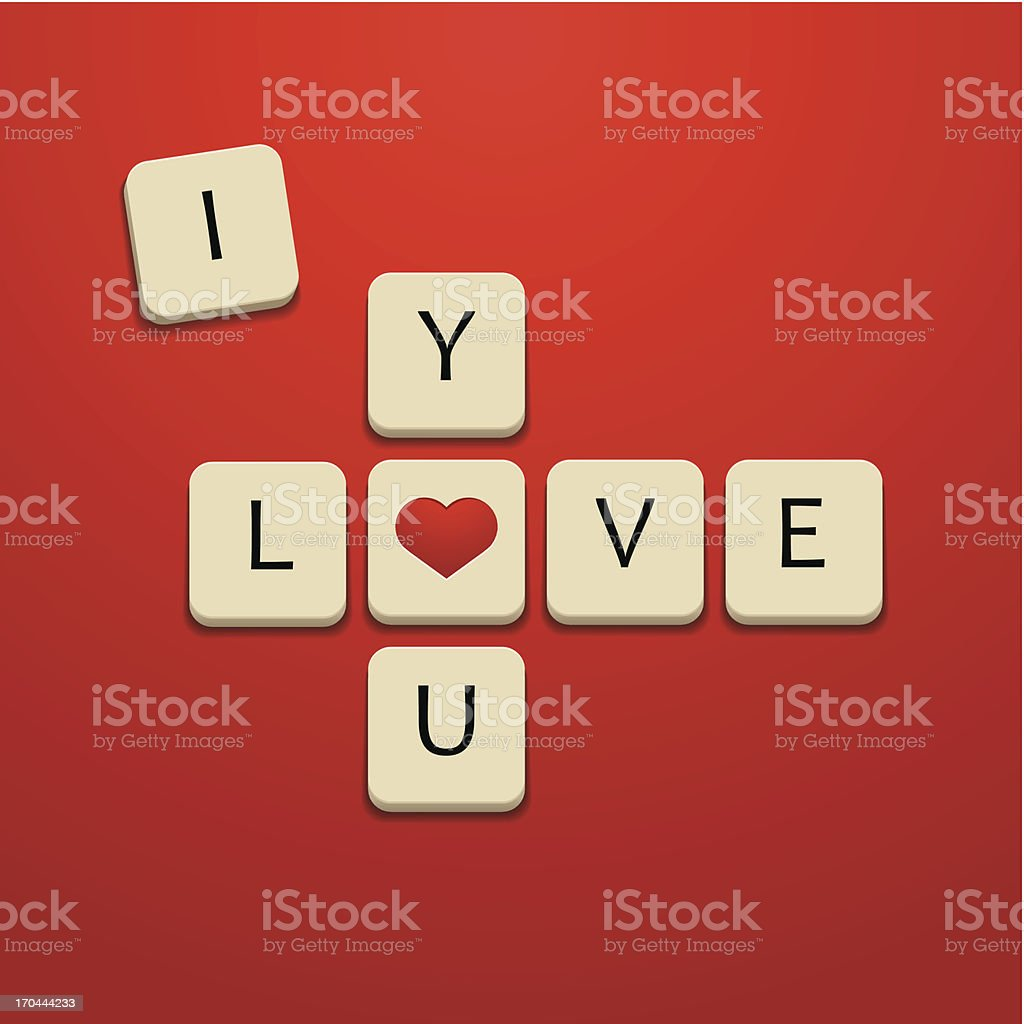 I love you letters royalty-free stock vector art