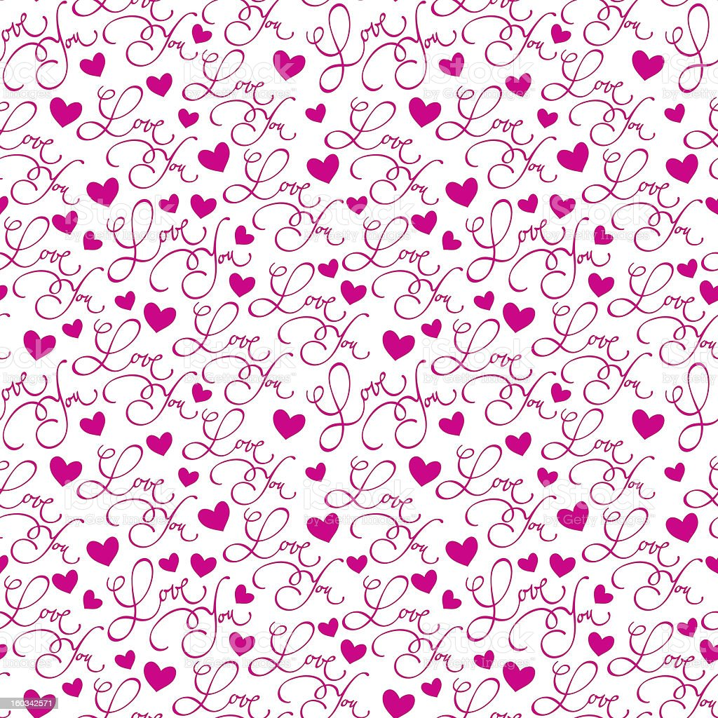 'love you' seamless pattern royalty-free stock vector art