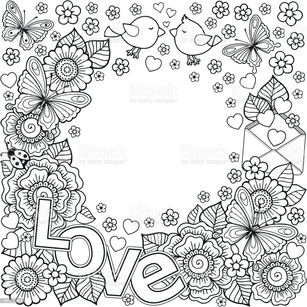 Coloring book wedding pictures - Vector Abstract Coloring Book For Adult Design For Wedding Invitations And