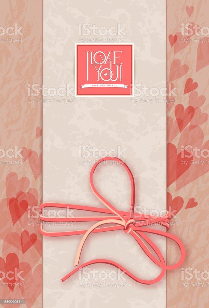 I love you. Vector card vector art illustration