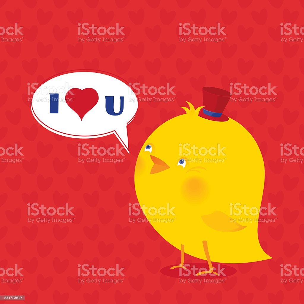 I love You! vector art illustration