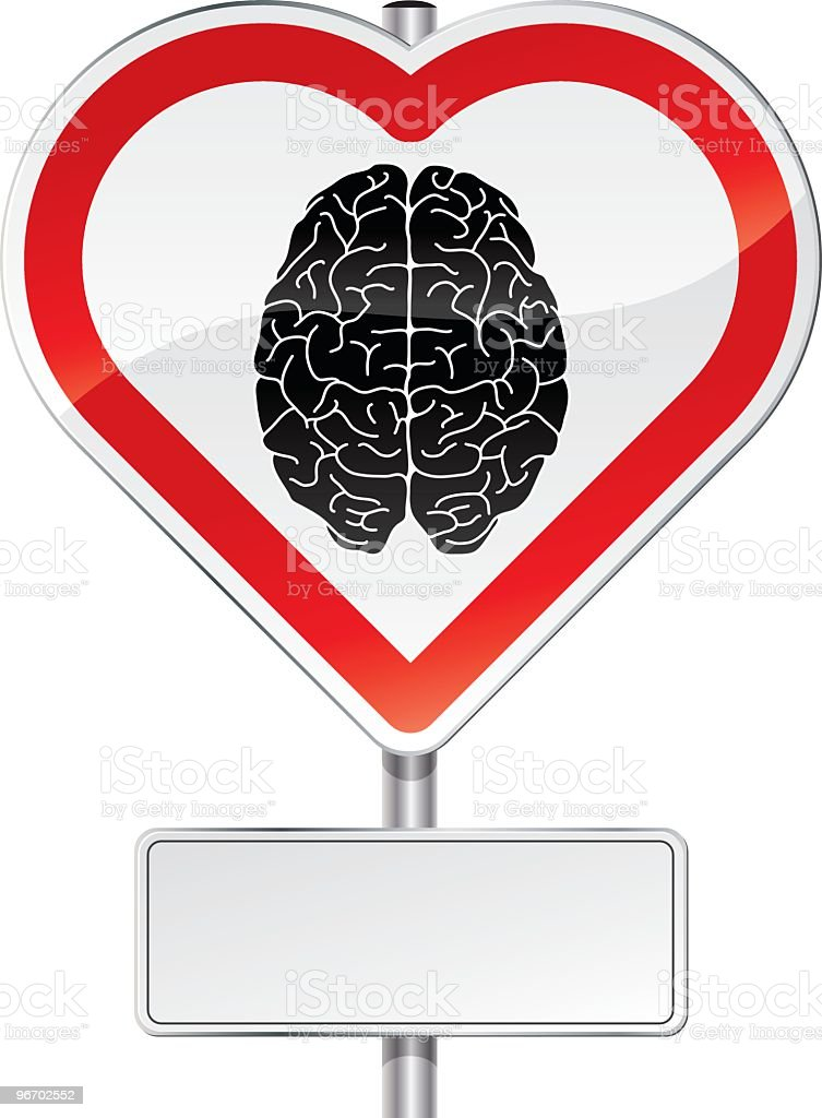 Love your brain! vector art illustration