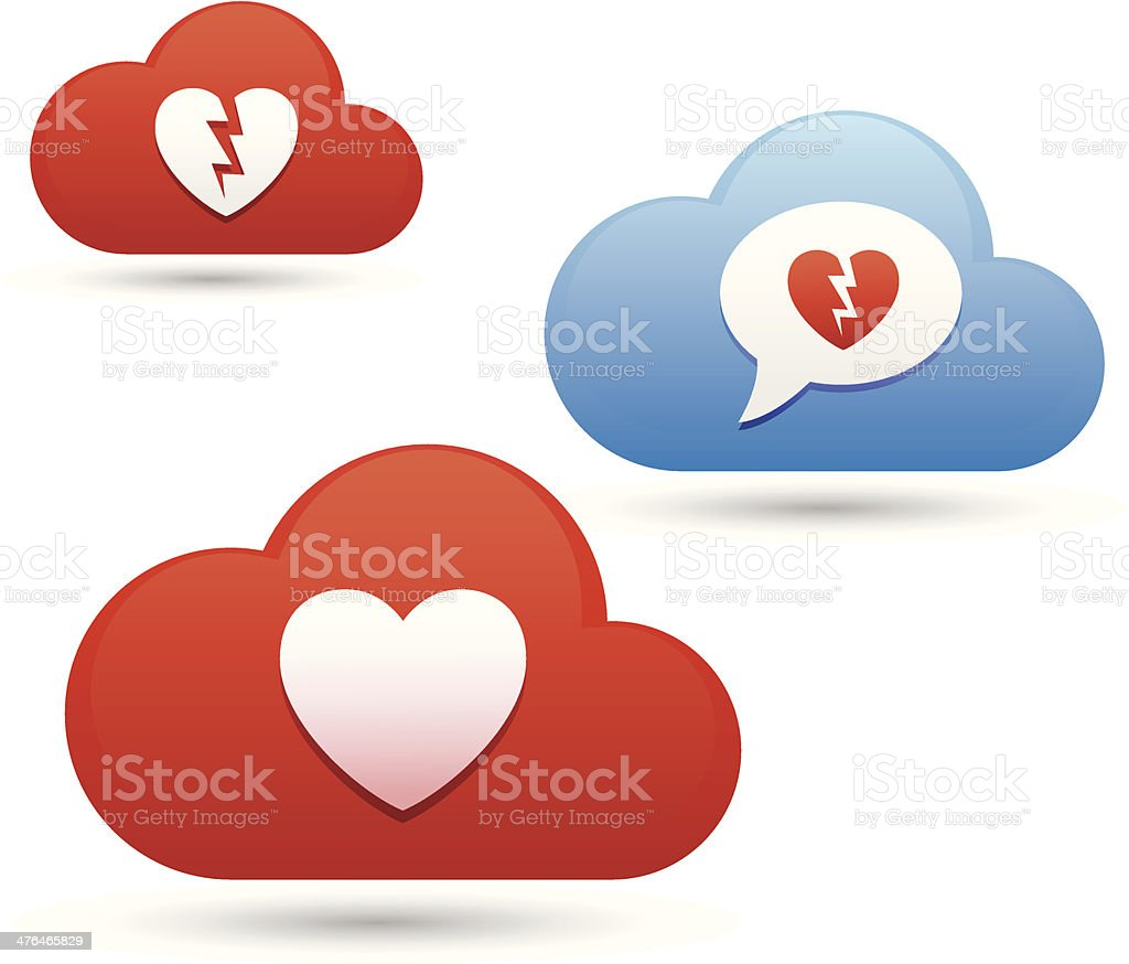 Loveclouds royalty-free stock vector art