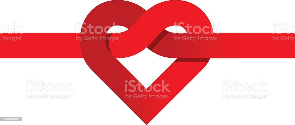 Love-knot royalty-free stock vector art
