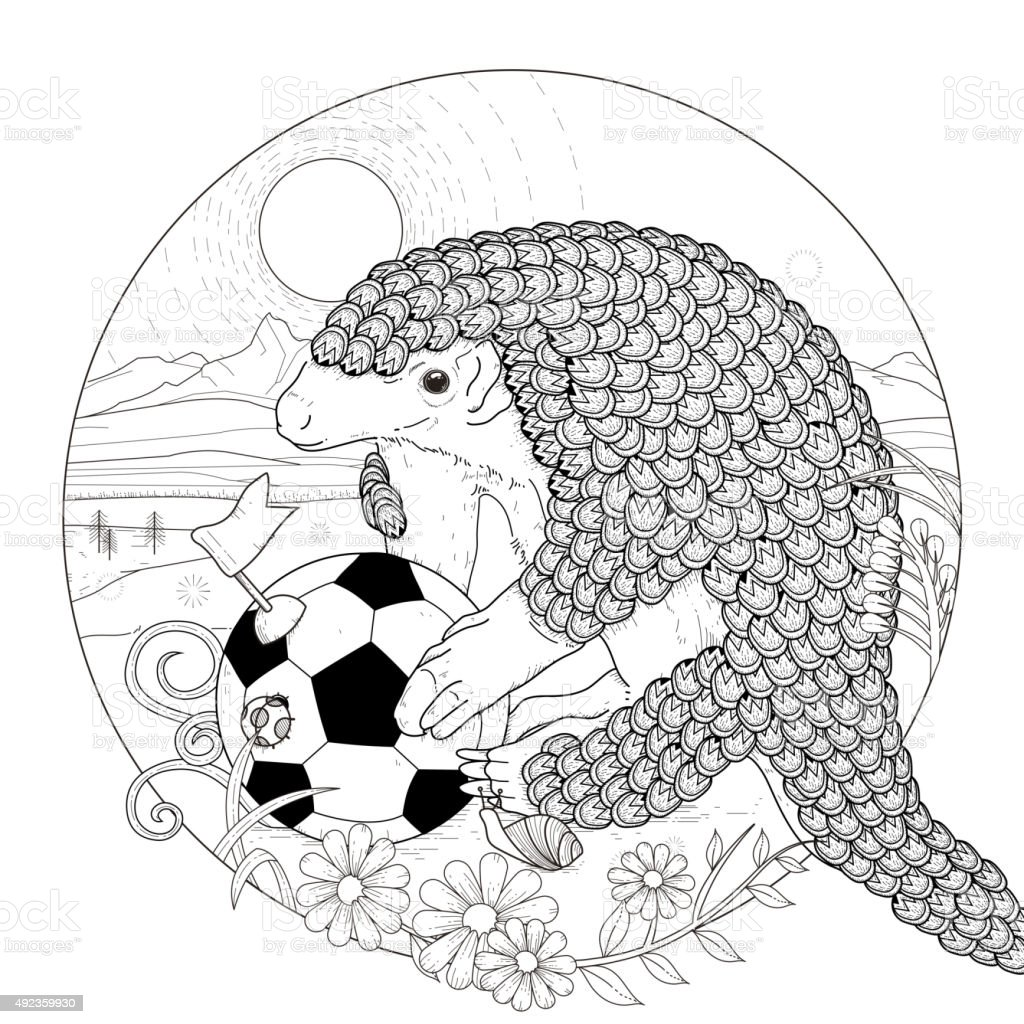 Clip Art Armadillo Coloring Pages lovely armadillo coloring page stock vector art 492359930 istock royalty free art