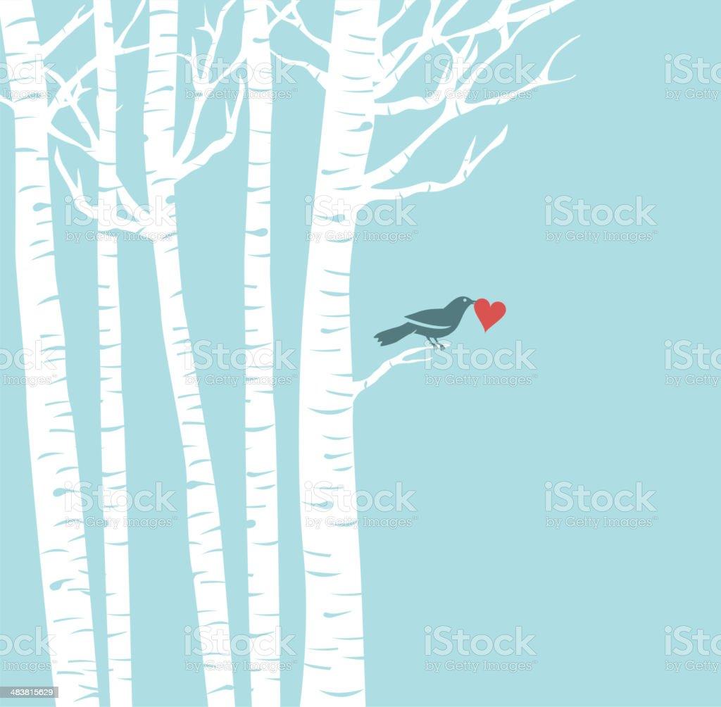 Lovely Bird vector art illustration