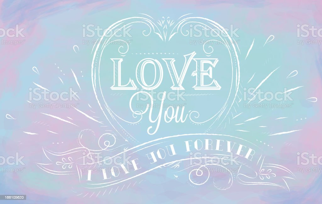 Lovely card blue and pink background royalty-free stock vector art