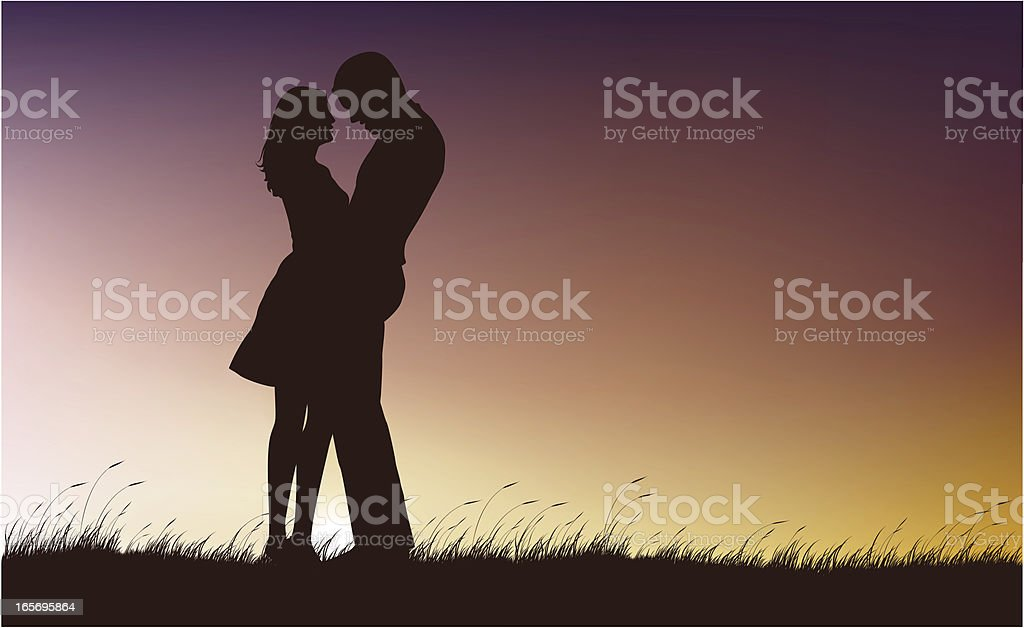 Lovely Coucple royalty-free stock vector art