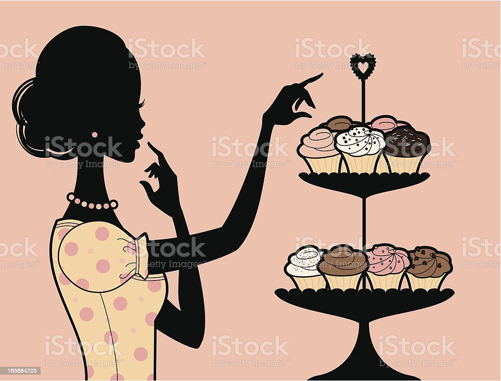 Lovely Cupcakes royalty-free stock vector art