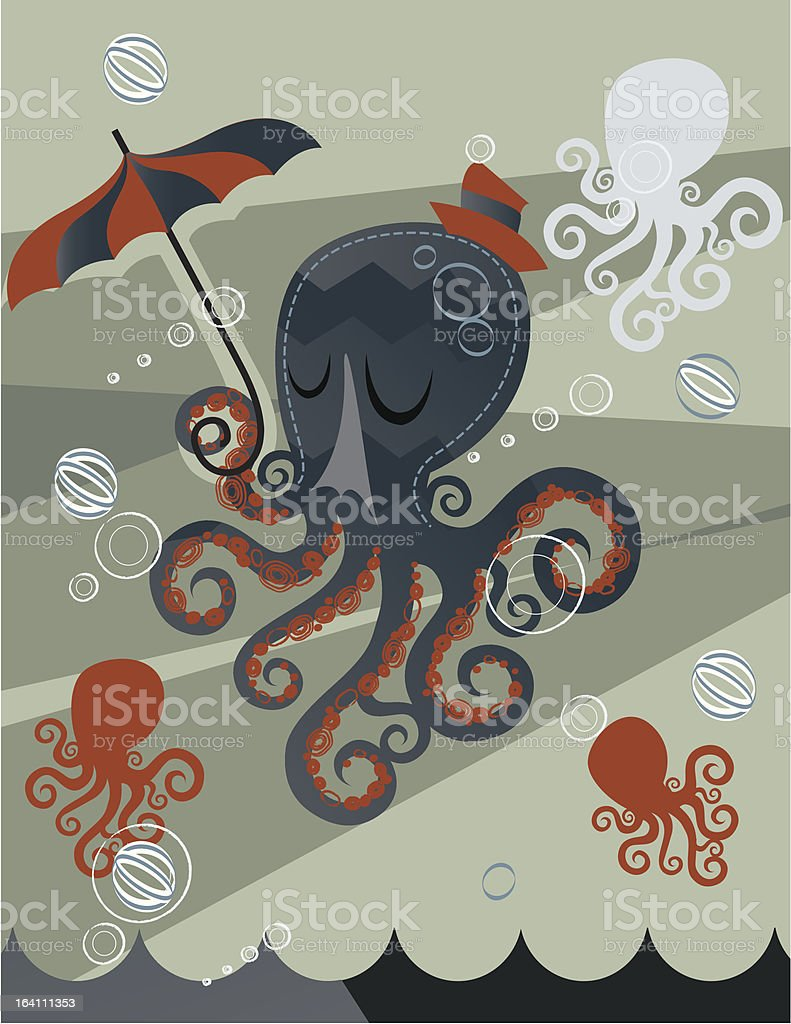 Lovely Day Octopus royalty-free stock vector art