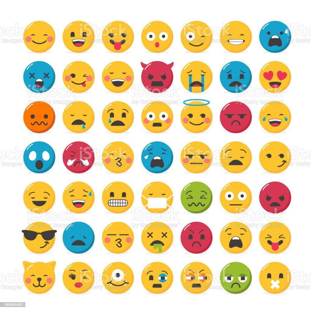 Lovely emoticons design vector art illustration