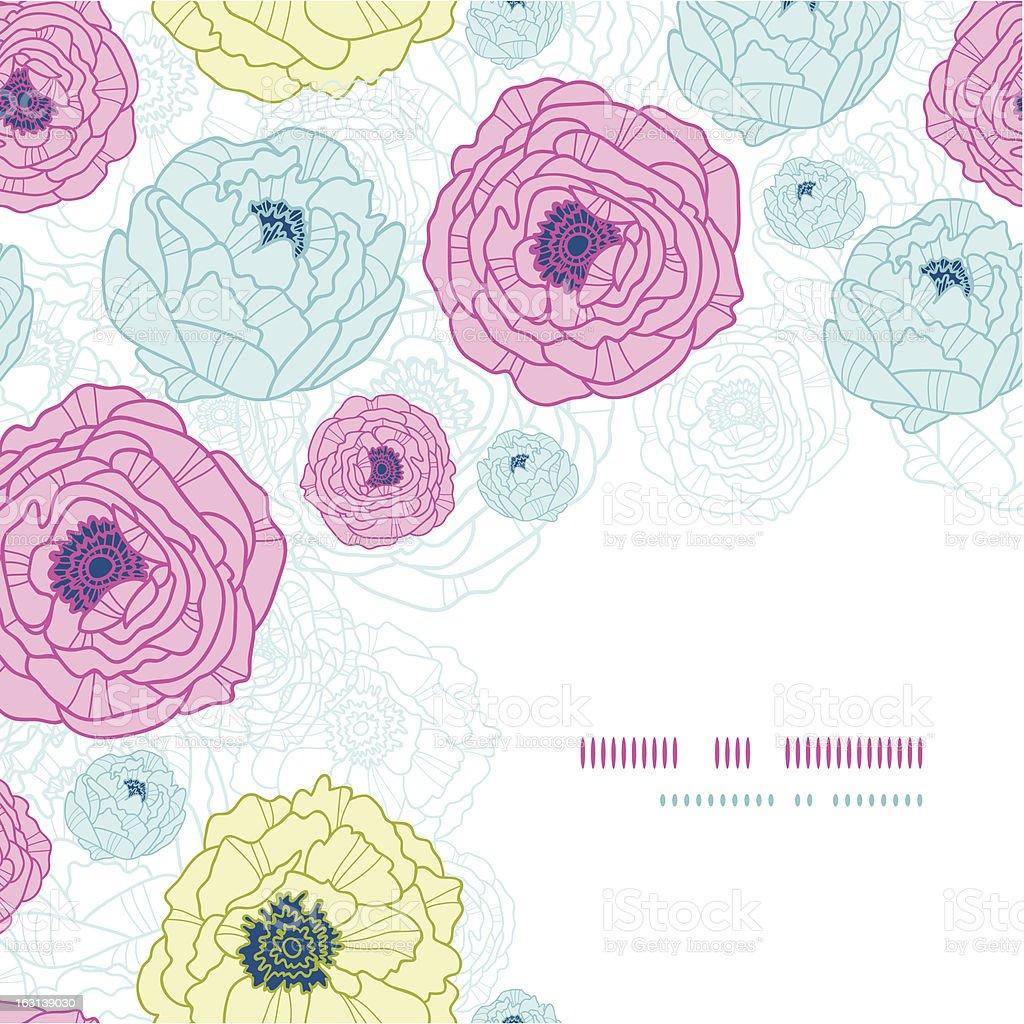 Lovely flowers corner seamless pattern background royalty-free stock vector art