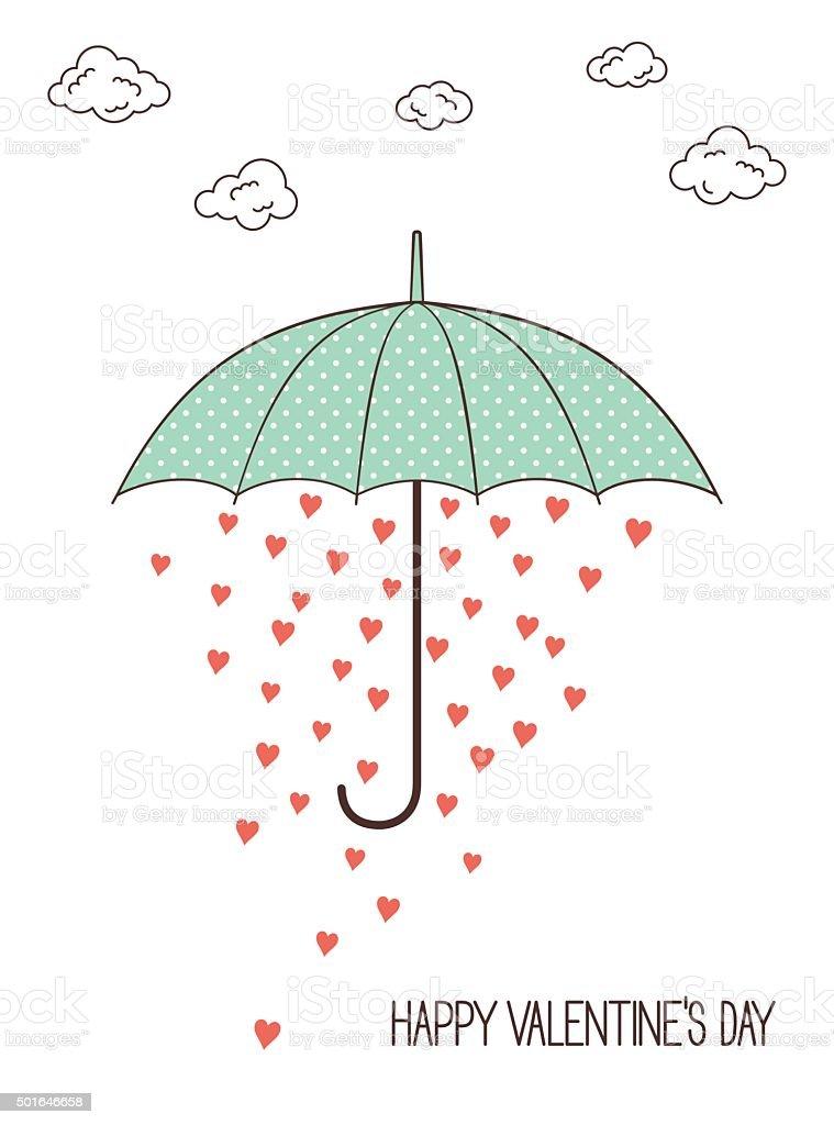 Lovely rain vector art illustration