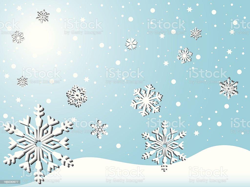Lovely snowfall royalty-free stock vector art