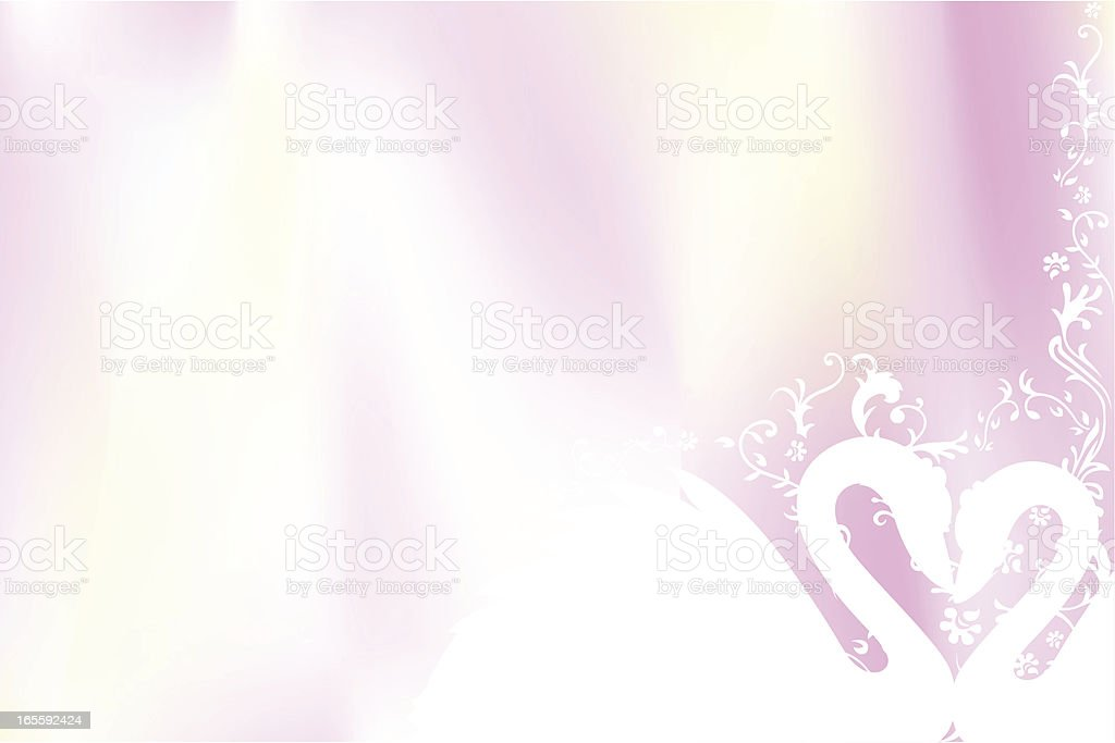 Lovely swan in horizontal royalty-free stock vector art