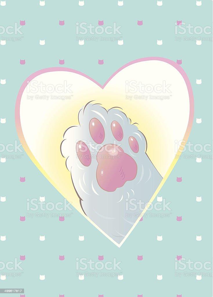 lovely_cat_pad royalty-free stock vector art