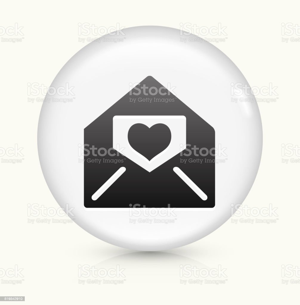 Lover Letter in Envelope icon on white round vector button vector art illustration