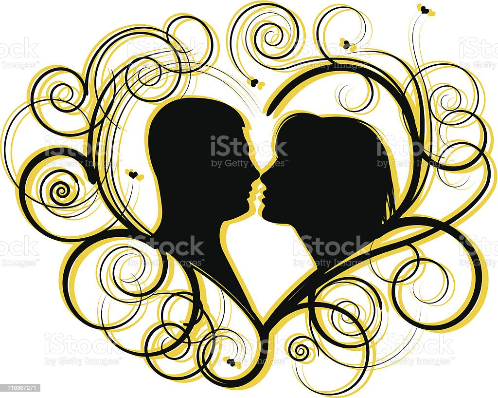 lovers silhouette royalty-free stock vector art