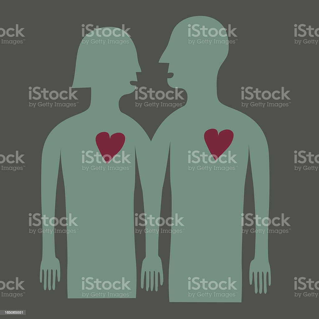 Lovers royalty-free stock vector art