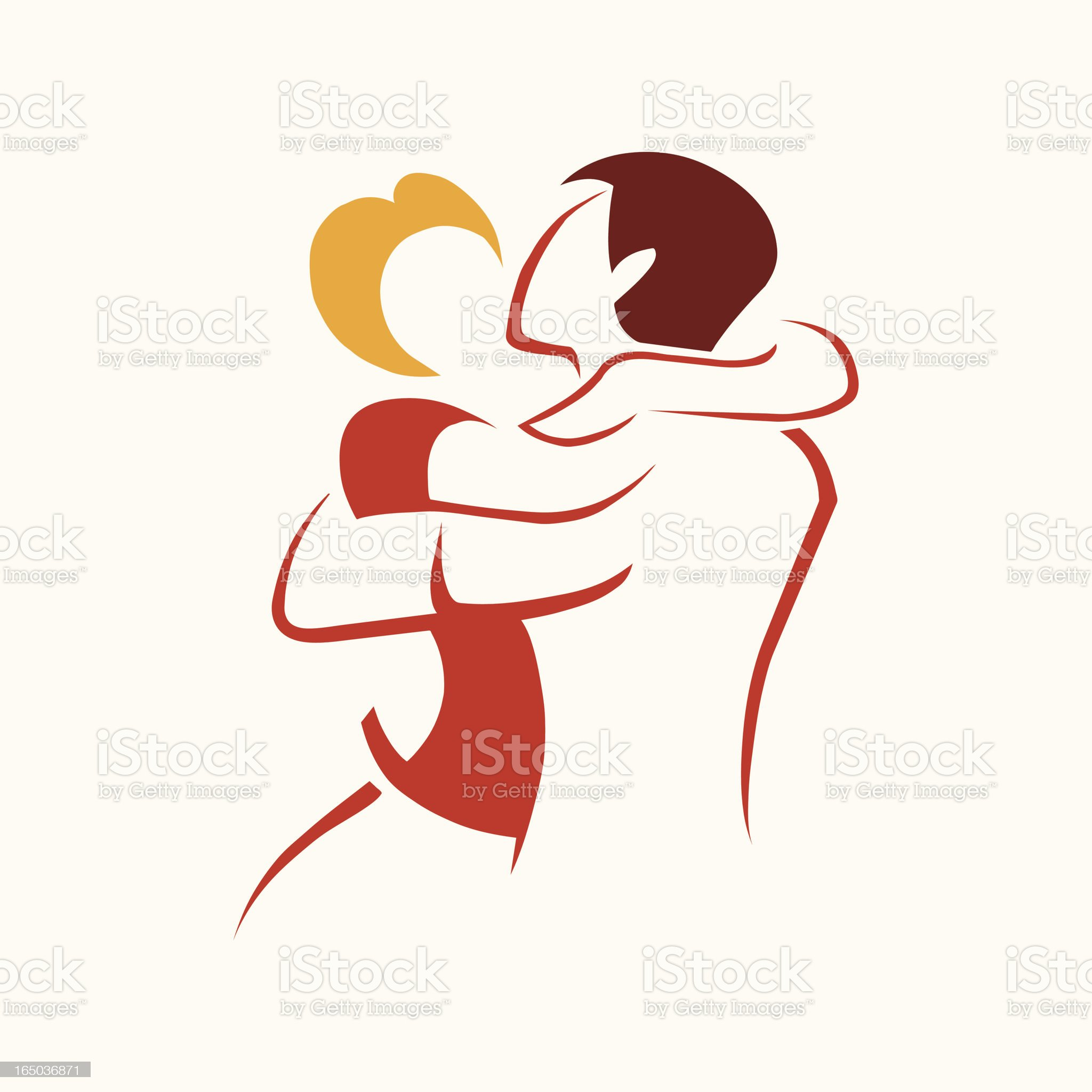 Lovers - vector royalty-free stock vector art