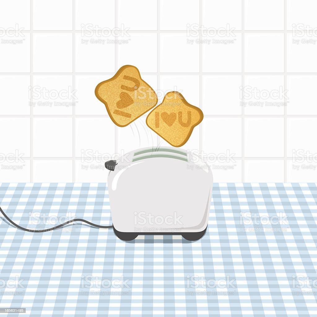 Loving breakfast vector art illustration