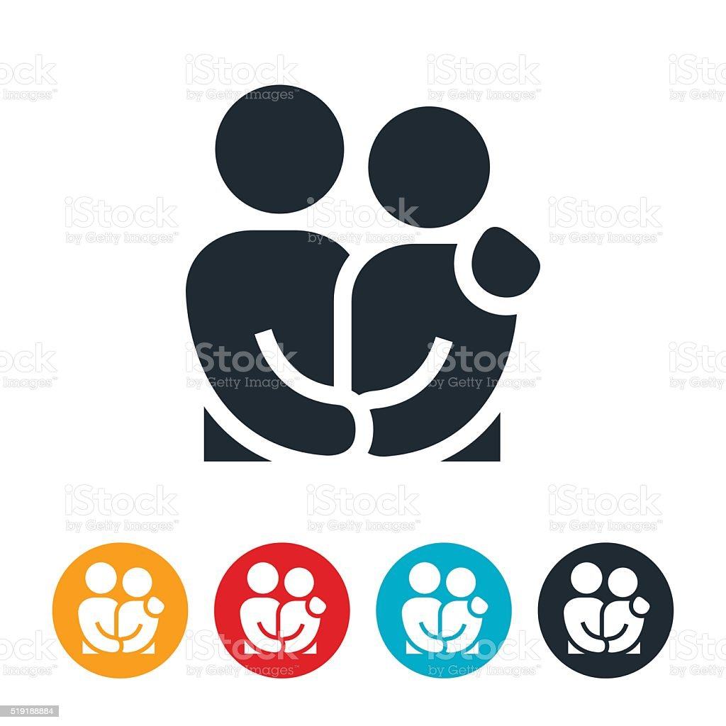 Loving Couple Icon vector art illustration