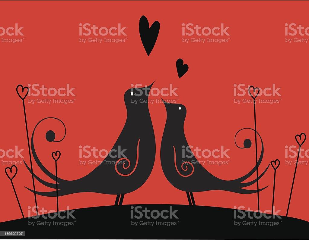 loving couple royalty-free stock vector art