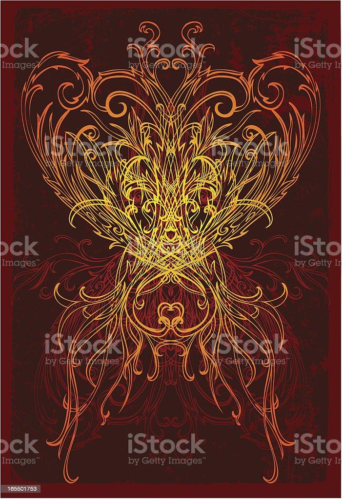 Liebevoll Herz Lizenzfreies vektor illustration