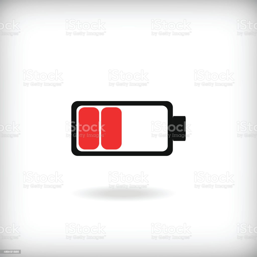 low battery icon vector art illustration