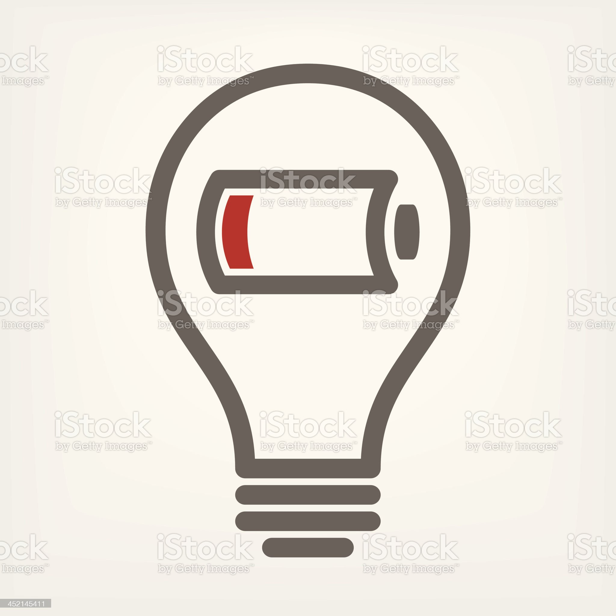 low battery sign royalty-free stock vector art
