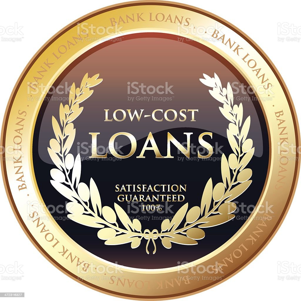 Low Cost Loans Medal royalty-free stock vector art