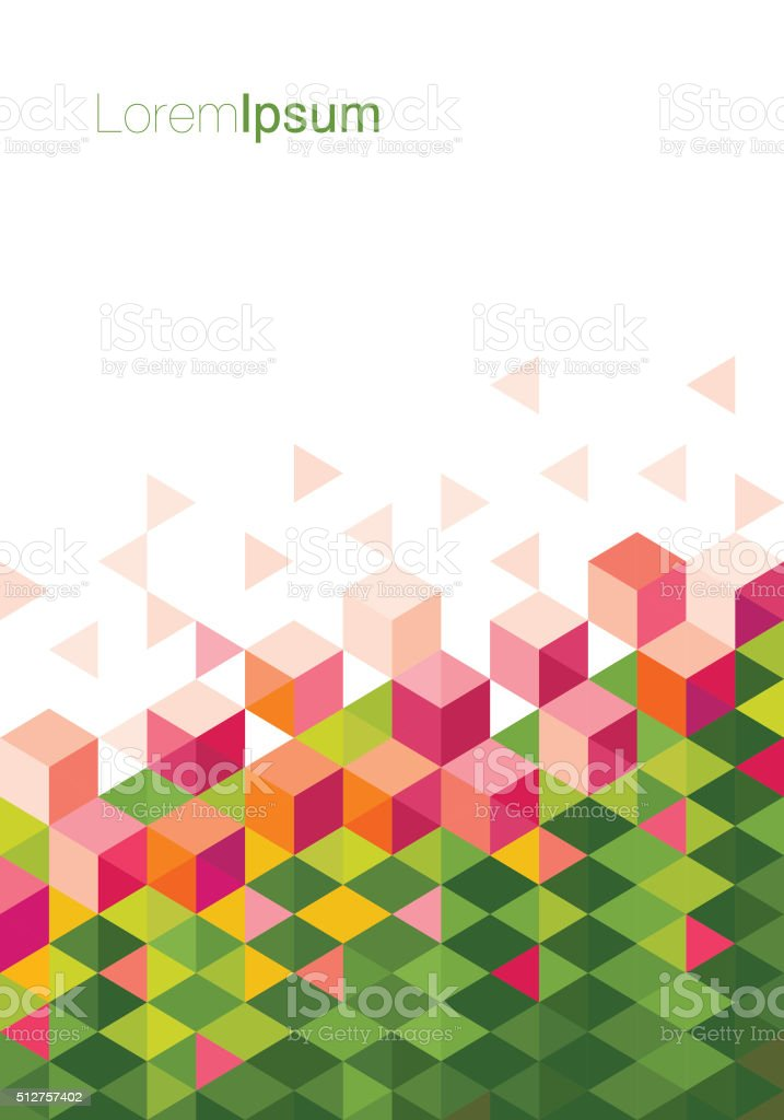 Low Poly Abstract Springtime Flower vector art illustration