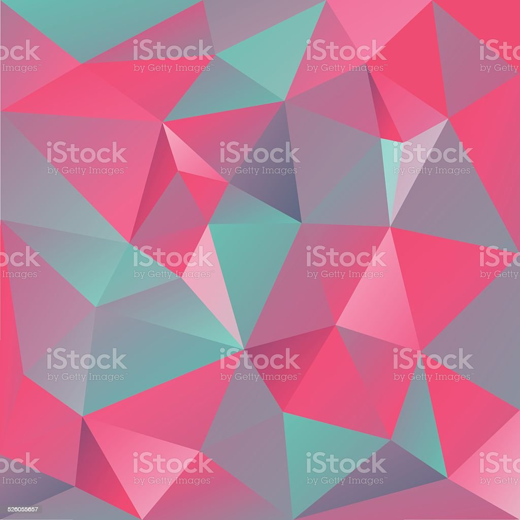 Low poly background vector art illustration