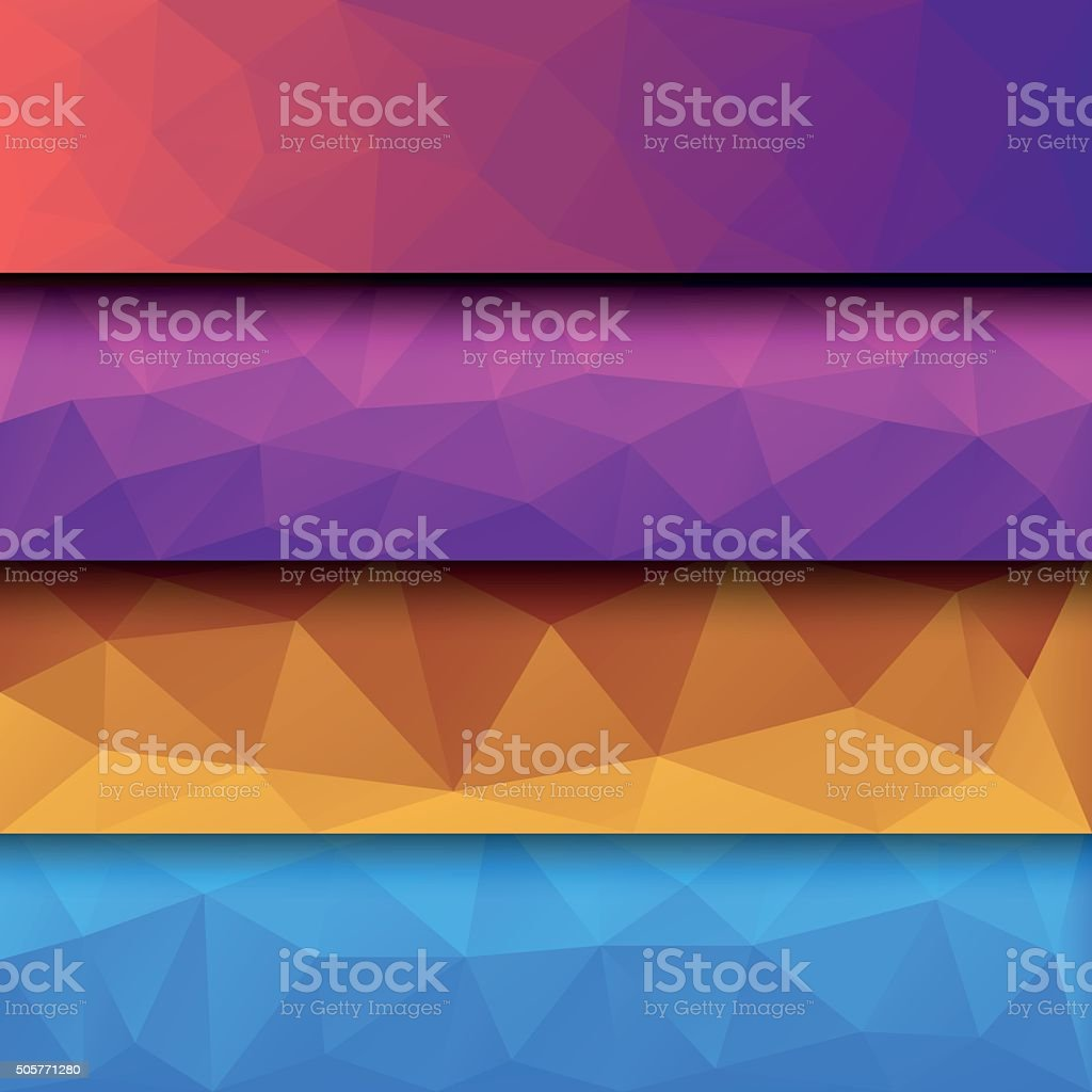 Low Poly Backgrounds vector art illustration