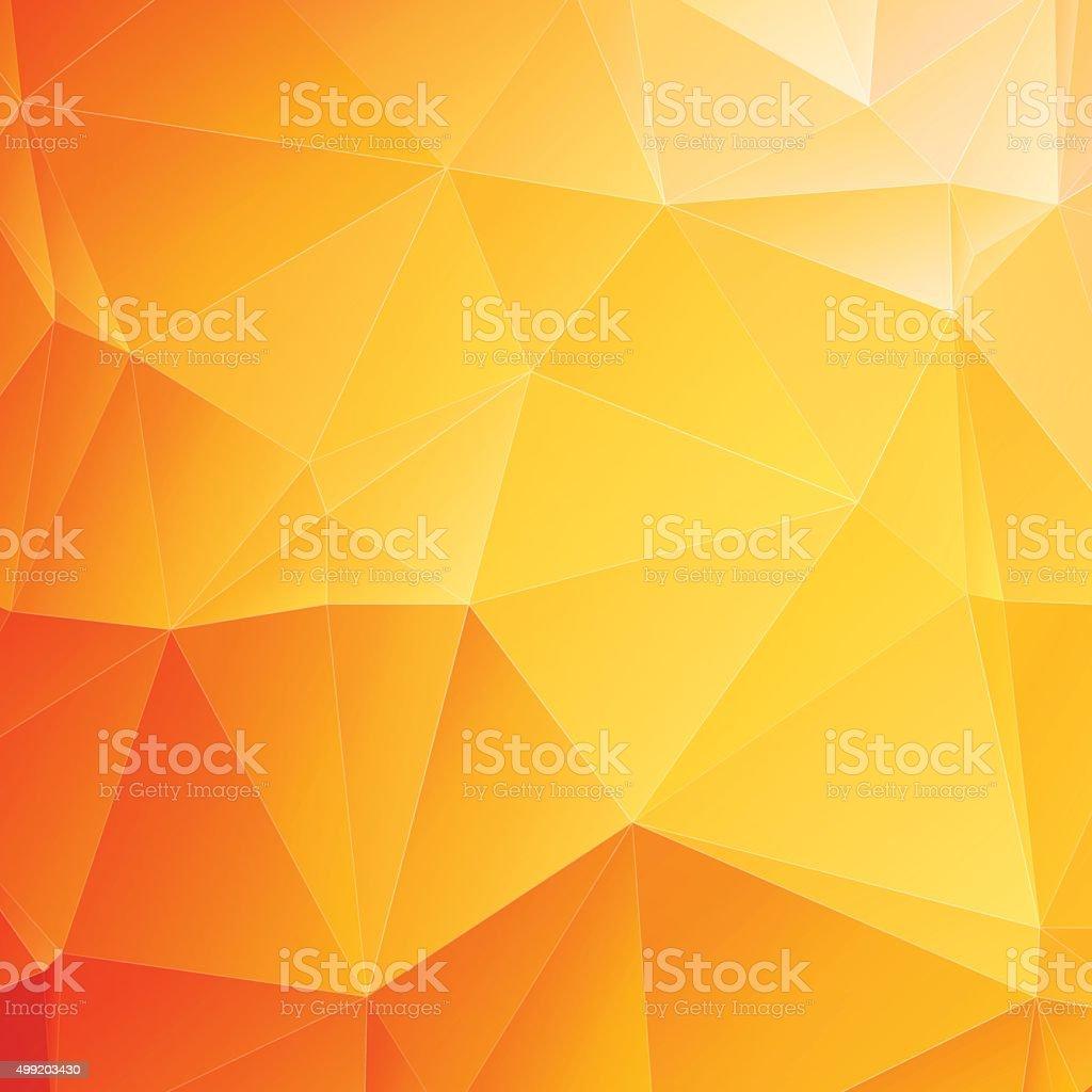 low poly orange background vector art illustration