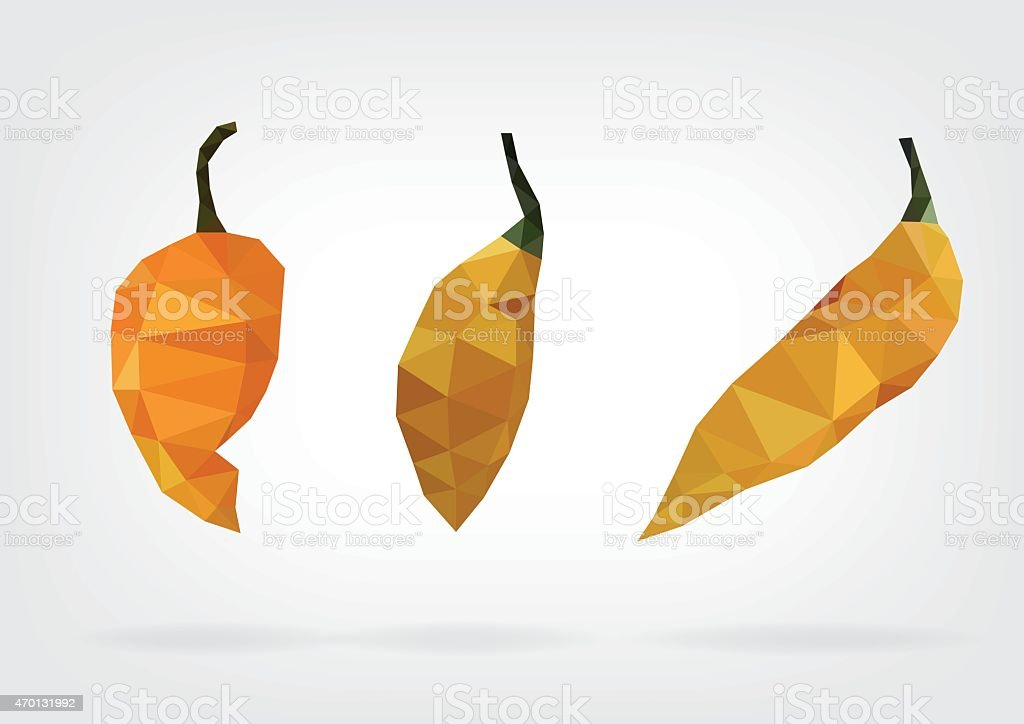 Low Poly 'Yellow Bumpy' Pepper vector art illustration