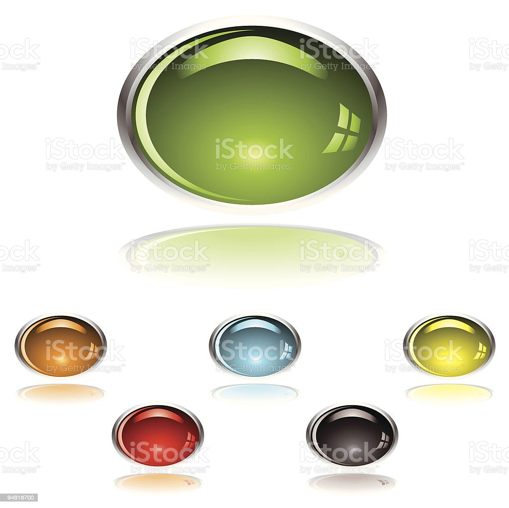 lozenge gel button vector art illustration