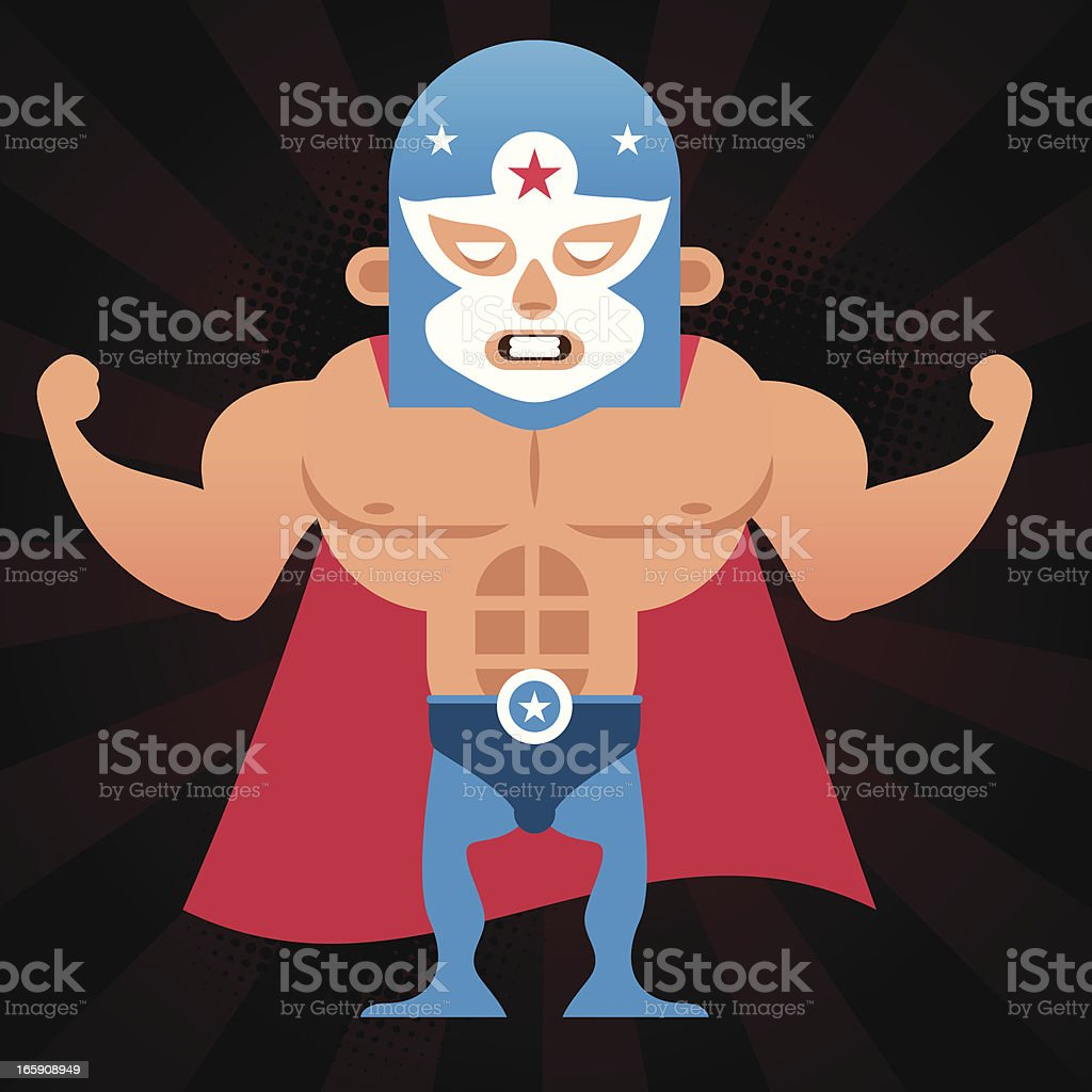Lucha Libre royalty-free stock vector art