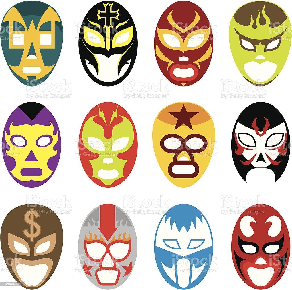 Lucha mask vector art illustration