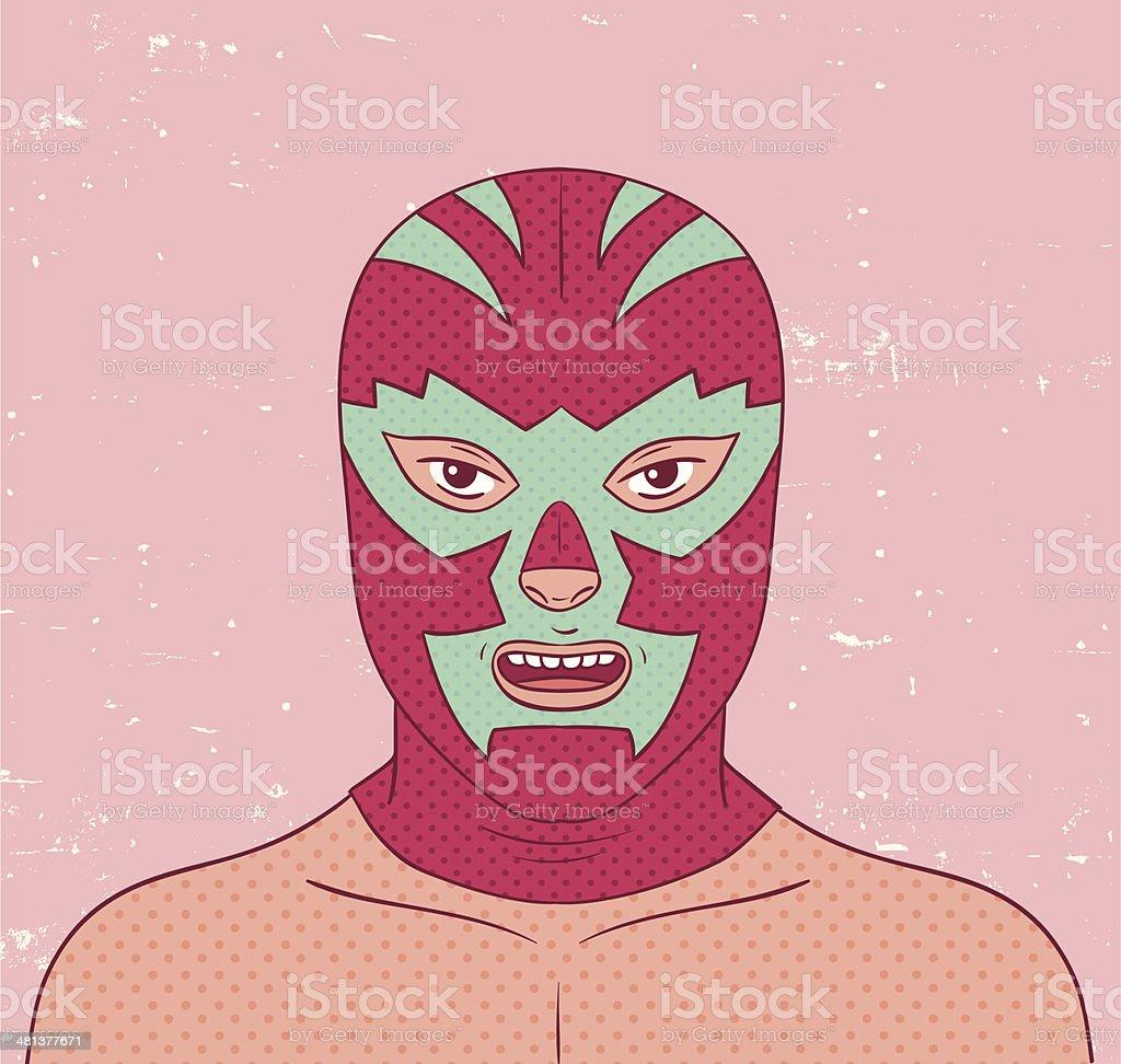 Lucha Portrait vector art illustration