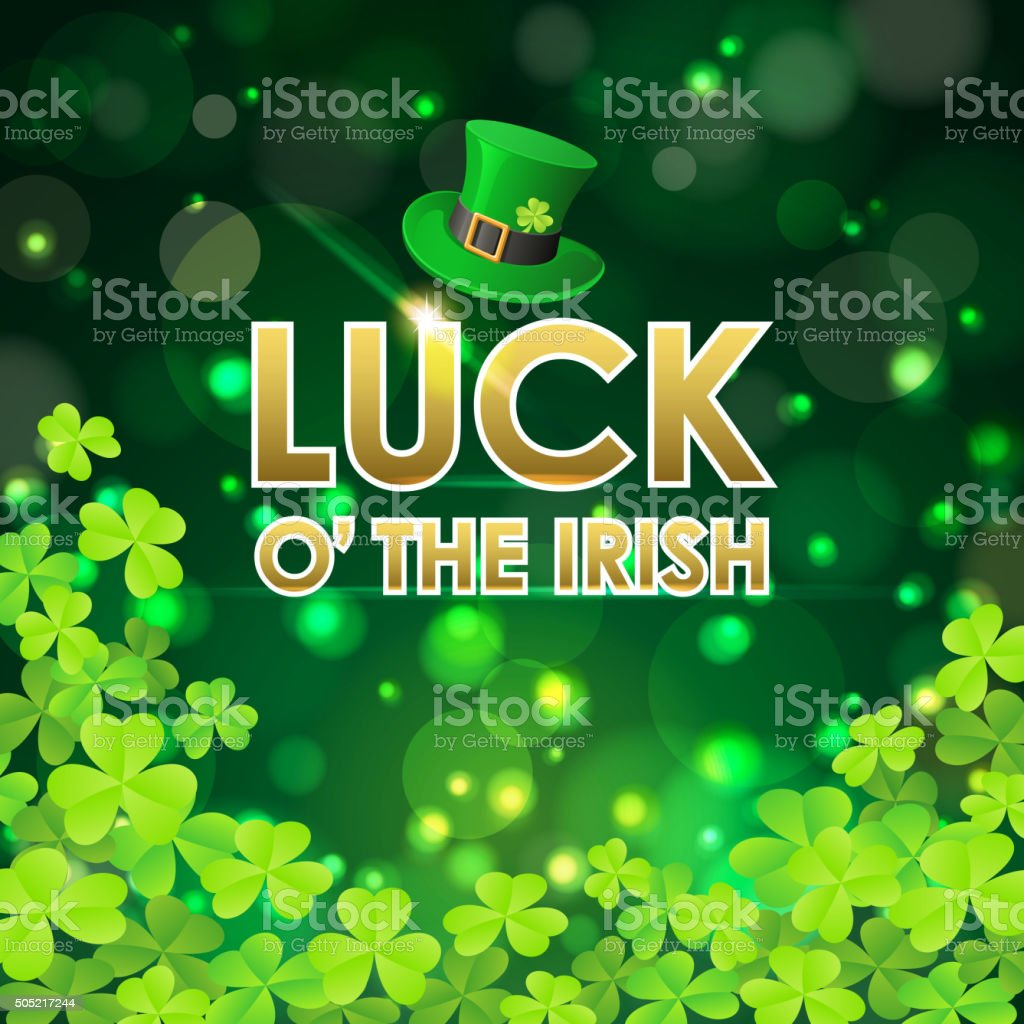 Luck of the irish celebration vector art illustration