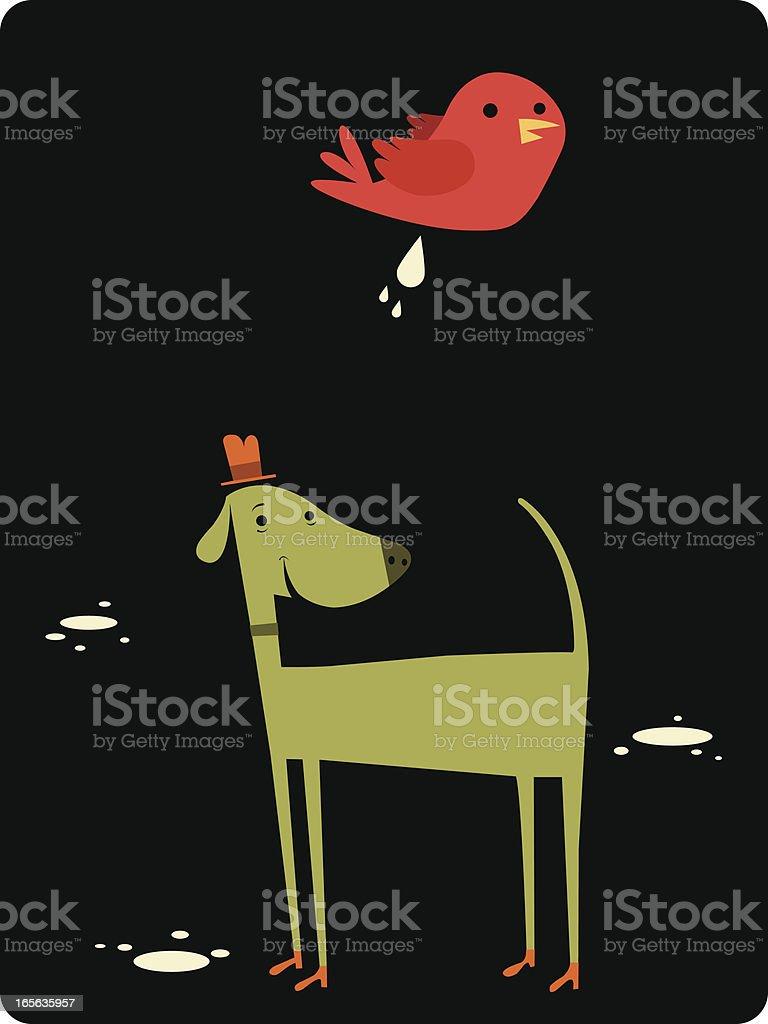 Luck Runs Out vector art illustration