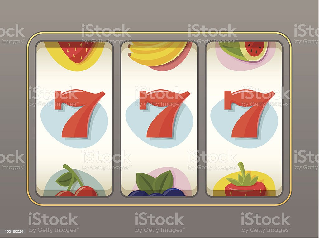 Lucky 7 Slot Machine | Rainbow Collection royalty-free stock vector art
